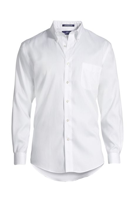 Men's Tall Long Sleeve Buttondown No Iron Pinpoint Shirt
