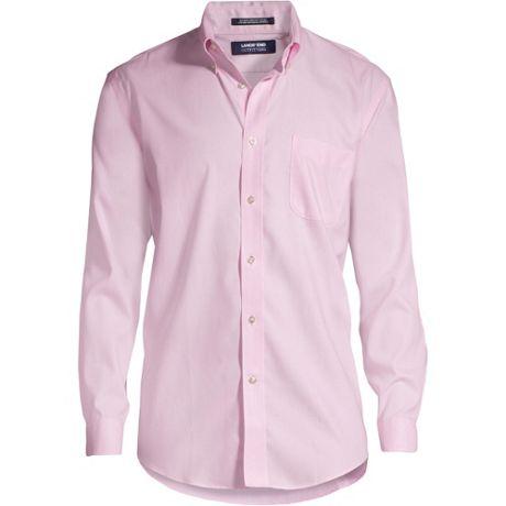 Men's Long Sleeve Buttondown Solid No Iron Pinpoint Shirt