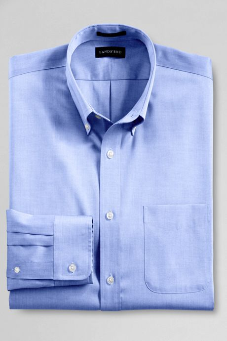 Men's Big Long Sleeve Buttondown No Iron Pinpoint Shirt