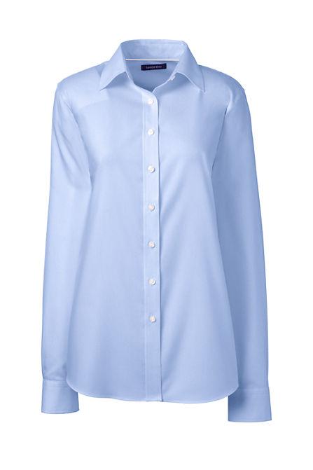 Women s Long Sleeve Solid No Iron Pinpoint Shirt 3b391d1de