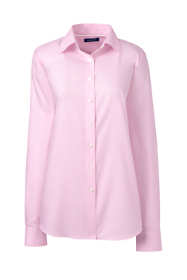 School Uniform Women's Plus Size No Iron Pinpoint Shirt