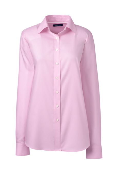 School Uniform Women's Petite Long Sleeve No Iron Pinpoint Shirt