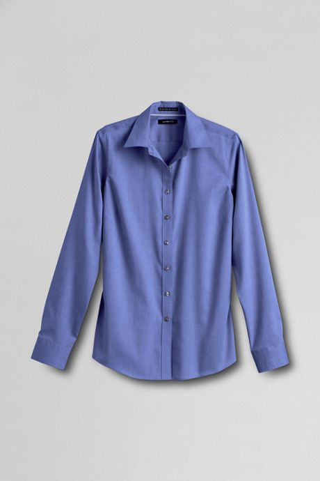 Women's Plus Size No Iron Pinpoint Shirt