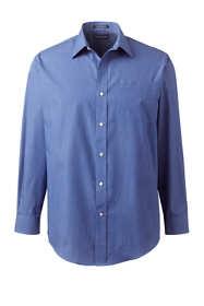 Men's Regular Long Sleeve Pattern Straight Collar Broadcloth Shirt