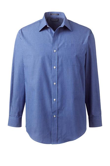 Men's Long Sleeve Straight Collar Pattern Broadcloth Shirt