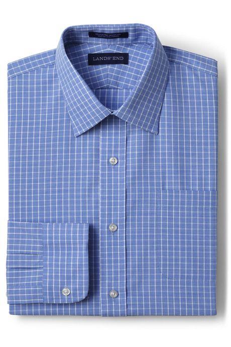 Men's Big and Tall Long Sleeve Pattern Straight Collar Broadcloth Shirt