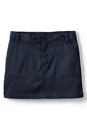 Girls' 2-button Stretch Skort (Above The Knee)
