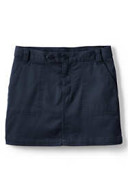 Little Girls 2-Button Stretch Skort Above Knee