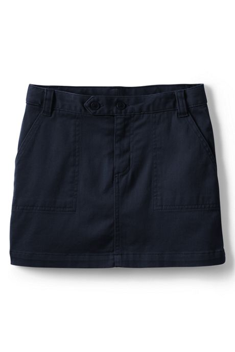 School Uniform Little Girls 2-Button Stretch Skort Above Knee