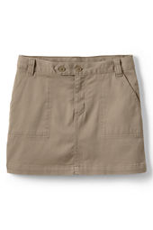 Little Girls' 2-button Stretch Skort (Above The Knee)
