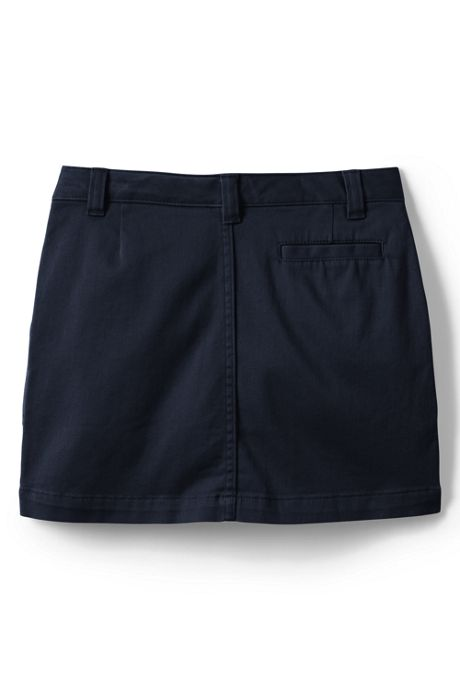 School Uniform Girls 2-Button Stretch Skort Above Knee