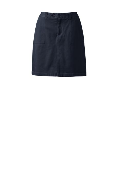 School Uniform Women's 2-Button Stretch Skort Above Knee