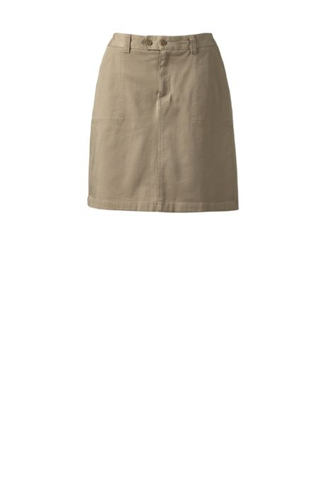 Women's 2-Button Stretch Skort Above Knee