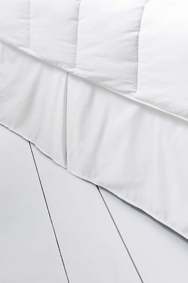 No Iron Supima Sateen Solid Bedskirt, Front