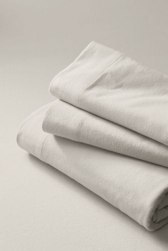 Plain Flannel Standard Pillowcase - set of 2