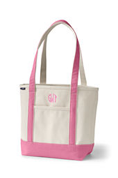Medium Open Top Long Handle Canvas Tote Bag