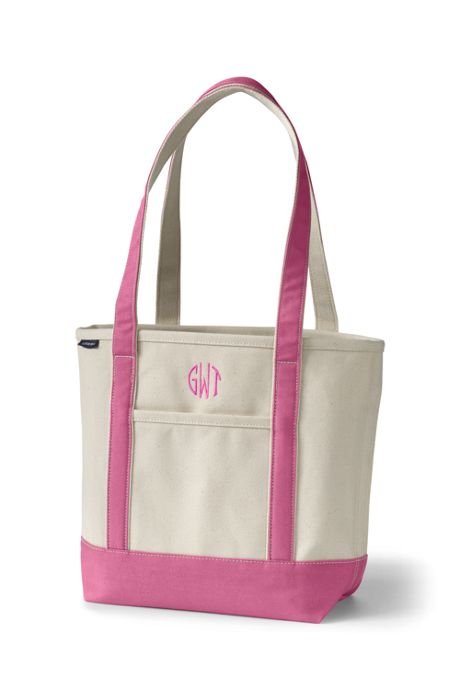 Natural Open Top Long Handle Canvas Tote