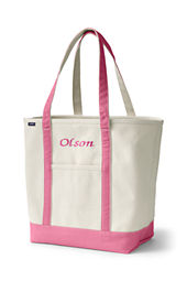 Large Open Top Long Handle Canvas Tote