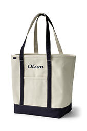 a925e08cd Open or Zip Top Two-Tone Canvas Tote Bag from Lands' End