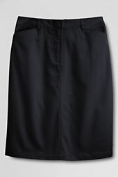 Women's Plus Size Short Chino Skirt
