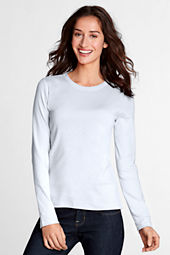 Women's Long Sleeve Shaped 1x1 Rib Crew T-shirt