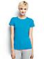 Le T-Shirt Côtelé  manches Courtes Col rond Femme, Taille Standard