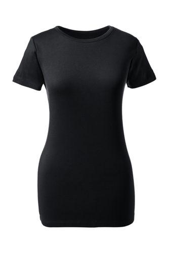Women's Regular Short Sleeve Cling Free Rib Tee