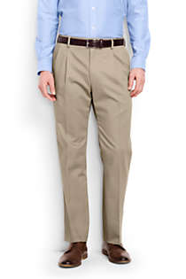 Men's Big and Tall Comfort Waist Pleated No Iron Chino Pants, Front