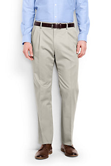 Men's Pleated Front Comfort-waist No-iron Chinos