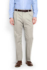 Men's Big and Tall Comfort Waist Pleated No Iron Chino Pants