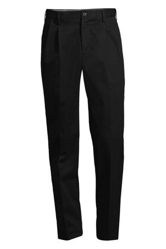 Men's Comfort-waist Pleated Non-iron Chinos