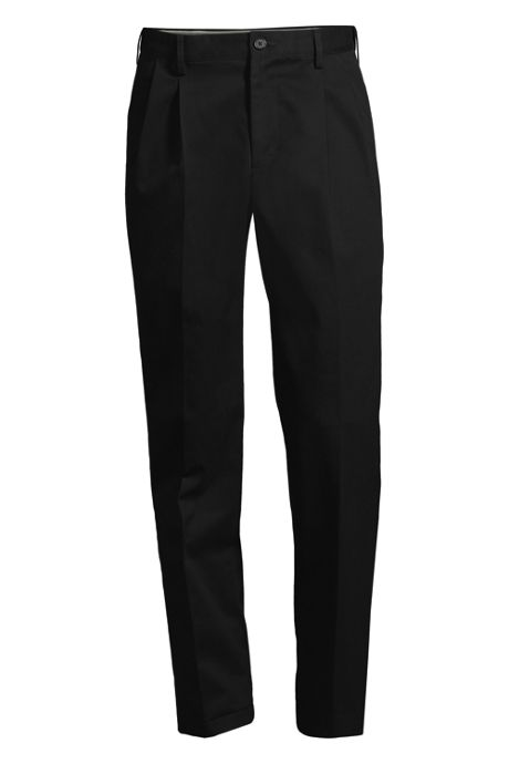 Men's Comfort Waist Pleated No Iron Chino Pants