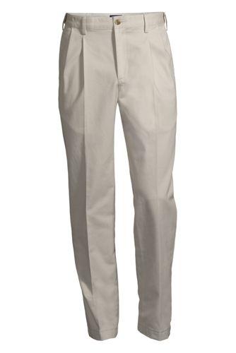 Chino Avec Pinces Facile d'Entretien Coupe Confort Ourlets Sur-Mesure, Homme Stature Standard