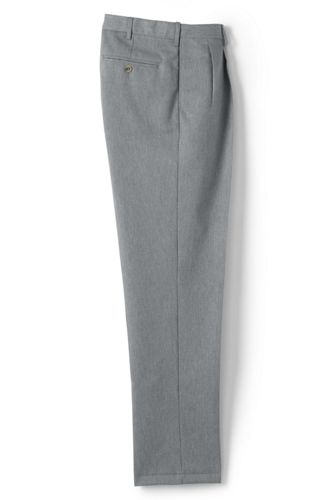 Men's Pleated Non-iron Chinos, Comfort Waist