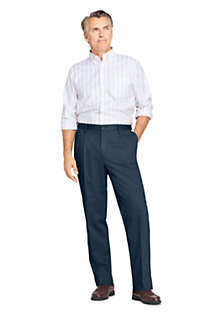 Men's Comfort Waist Pleated No Iron Chino Pants, Unknown