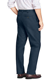 Men's Comfort Waist Pleated No Iron Chino Pants, Back