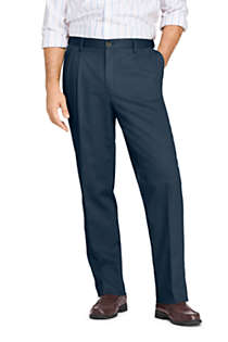 Men's Comfort Waist Pleated No Iron Chino Pants, Front