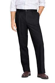 Men's Long Pleat Front Comfort Waist No Iron Chino Pants