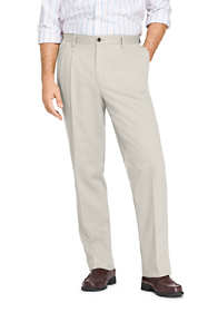 Men's Long Pleat Front Comfort Waist No Iron Chino Pants