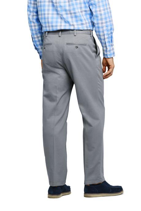 Men's Pleat Front Comfort Waist No Iron Chino Pants