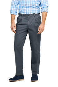 Men's Pleat Front Comfort Waist No Iron Chino Pants