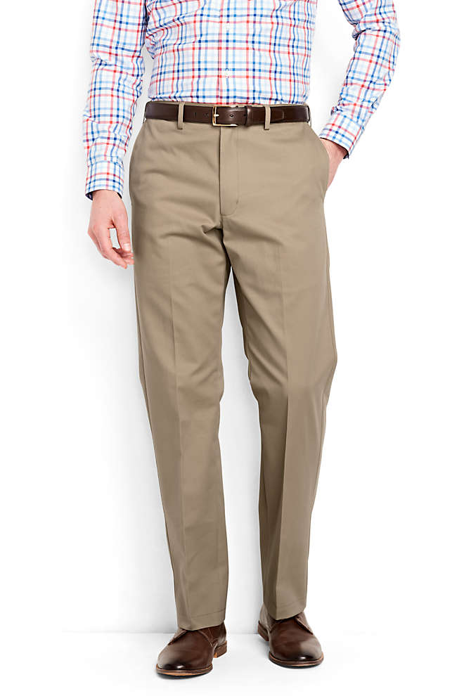 Men's Big and Tall Comfort Waist No Iron Chino Pants, Front