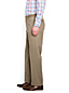 Men's Regular Plain Front Comfort-waist No-iron Chinos