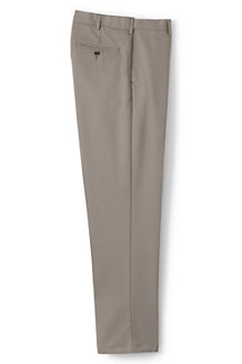 Men's No-iron Comfort-waist Plain Front Chinos