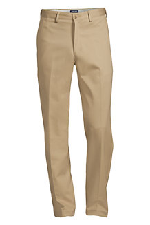 Men's Plain Front Comfort-waist No-iron Chinos