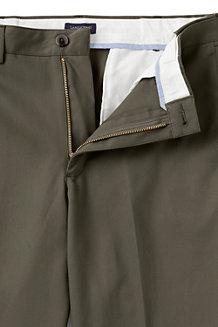 Men's Plain Front Comfort-waist No-iron Chinos