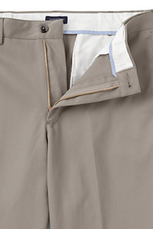 Men's No-iron Comfort-waist Plain Front Chinos