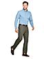 Men's Comfort-waist Flat Front Non-iron Chinos
