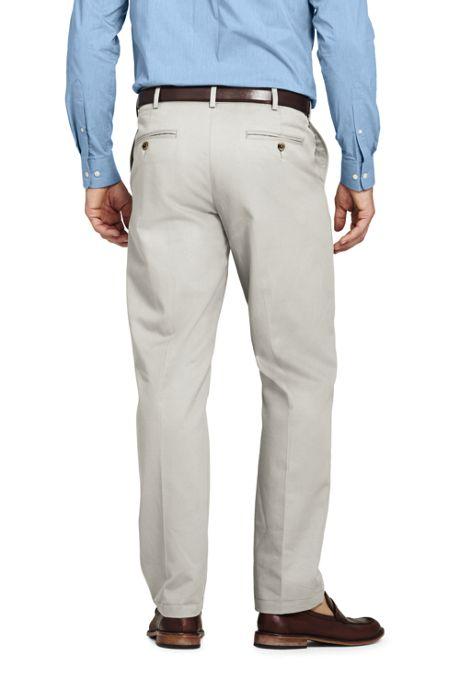 Men's Plain Front Comfort Waist No Iron Chino Pants