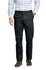 Men's Plain Front Comfort Waist No Iron Chino Pants